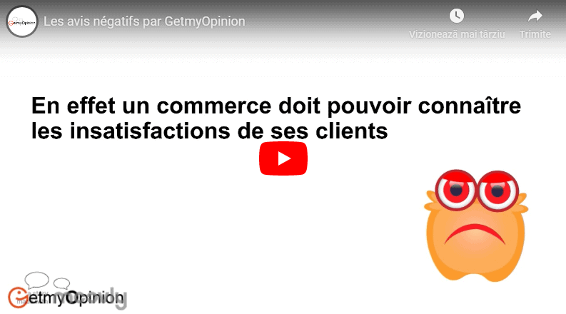 Les avis négatifs par GetmyOpinion – la solution de gestion de la satisfaction client en ligne